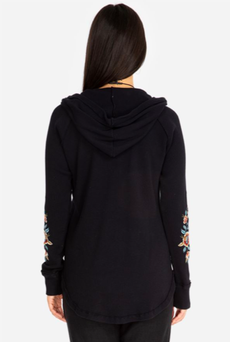Johnny was ELENI HOODED THERMAL - black