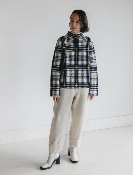 Shrimps Sebastian Plaid Jacquard Sweater