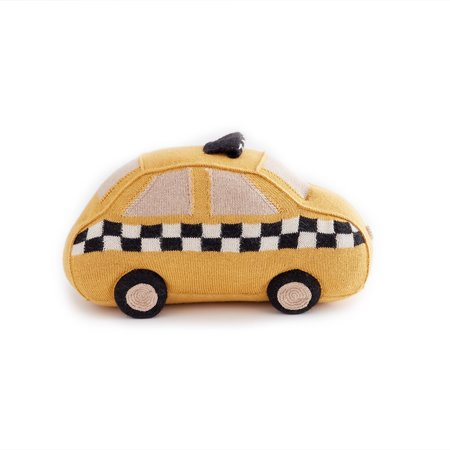 Oeuf Yellow Taxi Cab Pillow