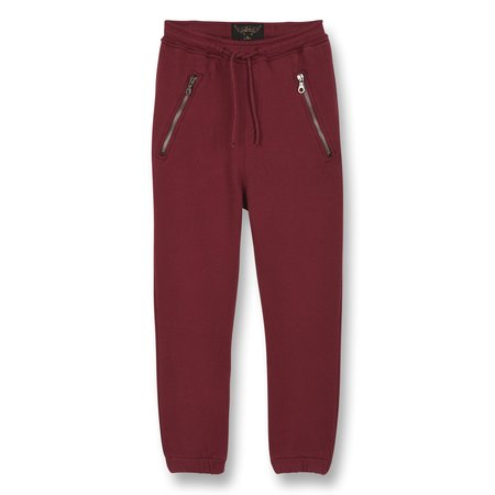 kids finger in the nose conor fleece jogging pants - burgundy