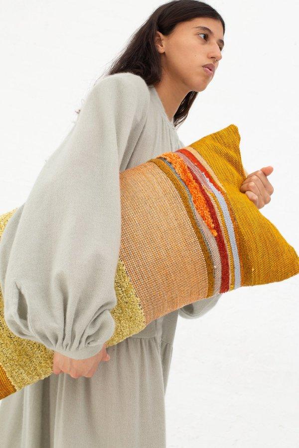 Jess Feury Lumbar Pillow - Ochre/Peach/Gold Chenille