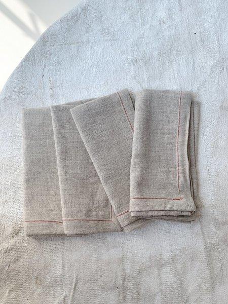 Cuttalossa Linen Napkin Set of 4 - Natural