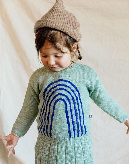 Kids Oeuf Knit Rainbow Sweater