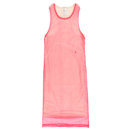 Helmut Lang Sheer Thermal Rib Tank Dress - Prism Pink