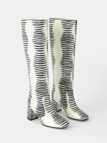maryam nassir zadeh lune boot - patent zebra
