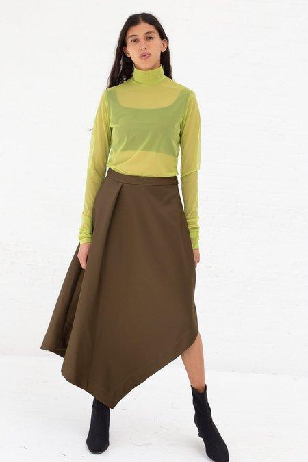 Nomia A-Line Asymmetric Skirt - Moss