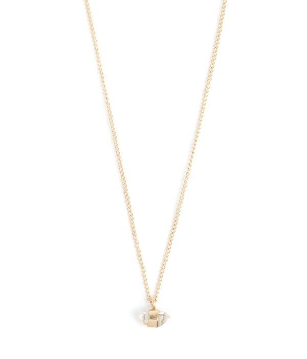Melissa Joy Manning Herkimer Diamond Necklace - Yellow Gold