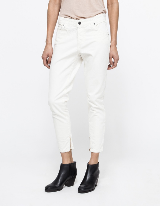 Objects Without Meaning Boyzip Patch Jean in Chalk