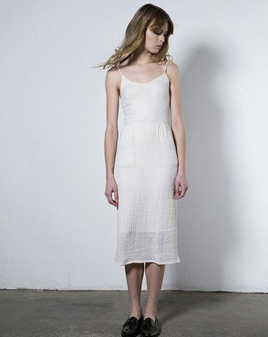 Objects Without Meaning Strappy Dress in White Ripple
