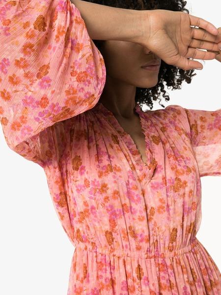 byTiMo Chiffon Layered Midi Dress