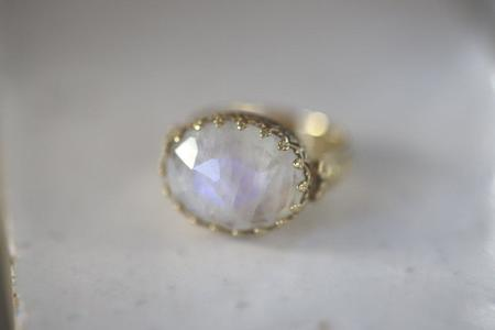 Becky Kelso Oval Rose-Cut Moonstone Ring