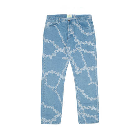 Aries Arise Lilly Chain Print jeans - Blue