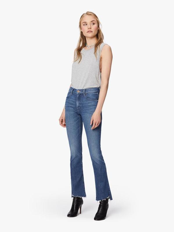Mother Denim Step Fray Jeans - Runaway Train