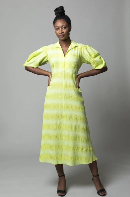 Rachel Comey Amplus Dress - Neon Yellow