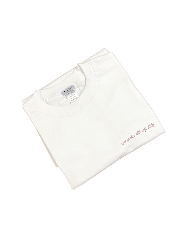 unisex House of 950 save america with sage sticks tee shirt