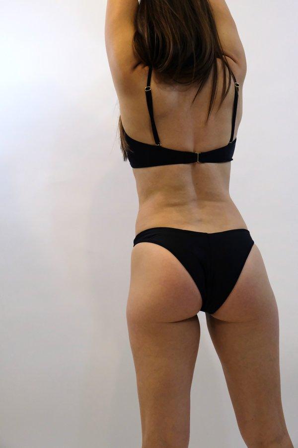 SIDWAY The Beverley Bandeau Bikini Top - Black