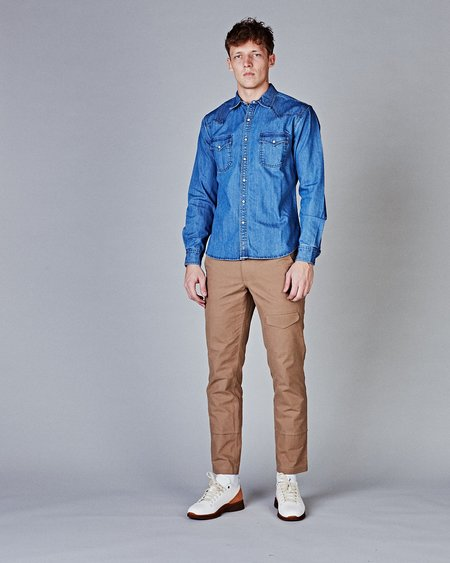 Corridor Denim Washed Western Shirt - Triple Stitch
