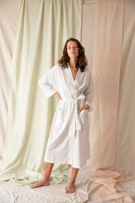 General Sleep Everyone Robe - Salt Stripe