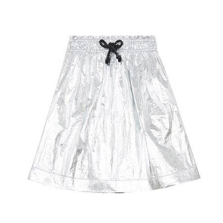 kids hundred pieces shiny skirt - silver