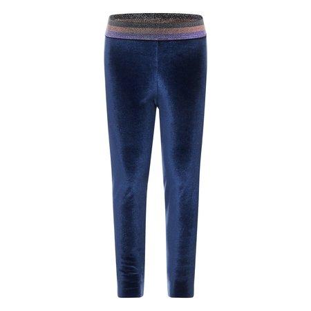 kids hundred pieces velour leggings - midnight blue