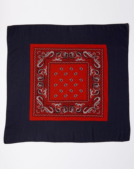 Destin Bandtwice Scarf - Red/Navy