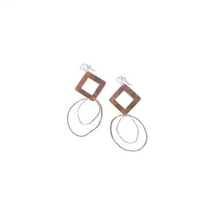 Patsy Kolesar Big Diamond Dangles - Copper