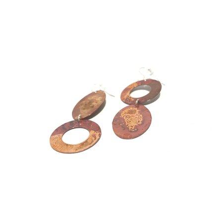 Patsy Kolesar Flip Earrings - Copper