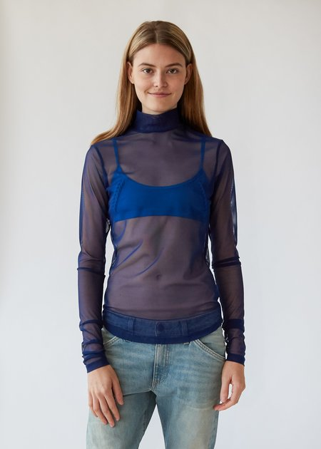 Nomia Long Sleeve Mesh Mockneck - Marine