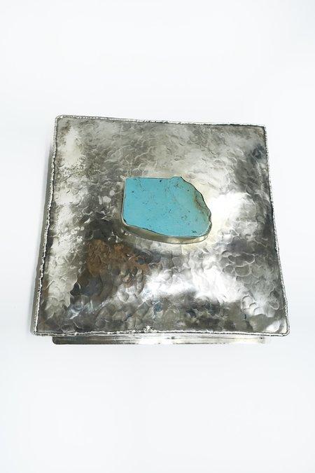 J. Alexander Dimpled Box - Silver