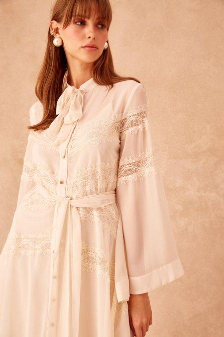 Keepsake Tranquil Midi Dress - Creme