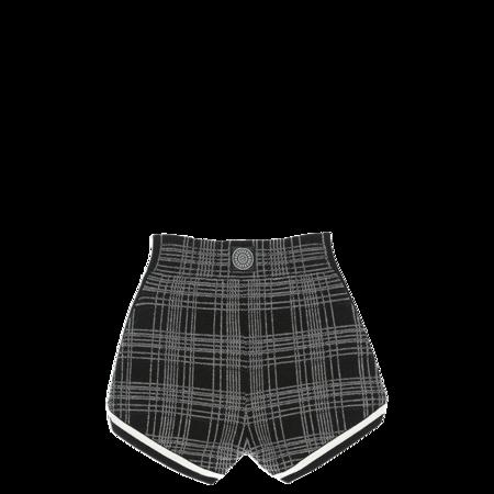 Nagnata Retro Check Shorts - Black/Cream