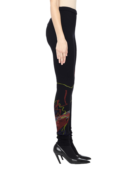 Yohji Yamamoto Printed Wool Leggings