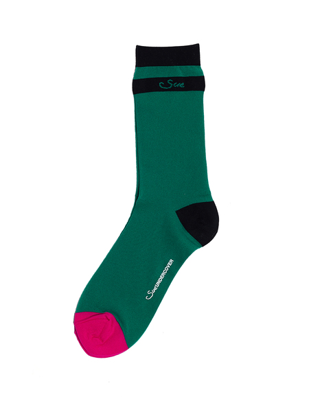 Sue Undercover Socks - Green/Pink
