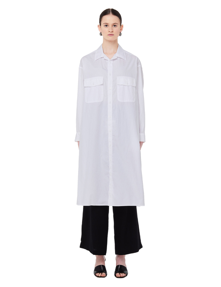 Yohji Yamamoto Elongated Printed Cotton Shirt