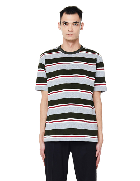 Junya Watanabe Striped Cotton T-Shirt - Multicolor