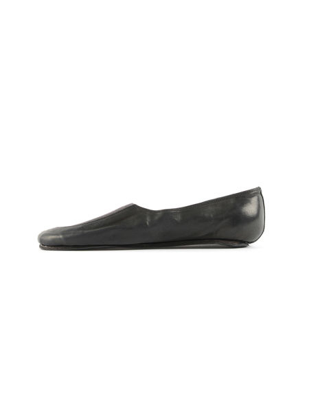 Guidi Leather Flats - Black