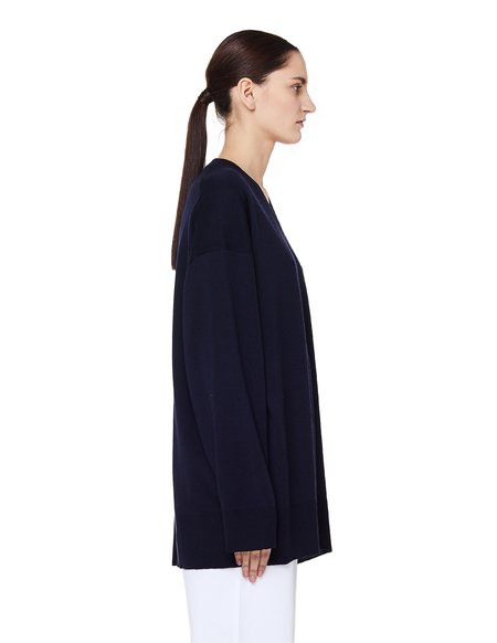 The Row Sabrina V-neck Cashmere Sweater - Navy Blue
