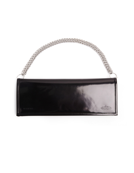 Vetements x Eastpak Leather Clutch Bag - Black