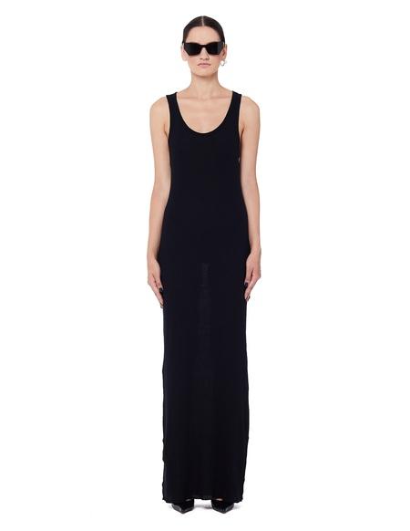 Haider Ackermann Ribbed Cotton Tank Dress - Black