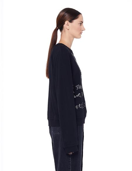 Haider Ackermann Embroidered Cotton I'm Your Man Sweatshirt - Black