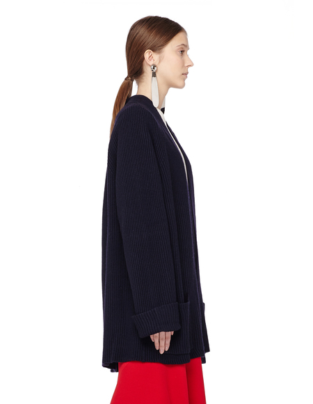 The Row Carissa Silk and Cashmere Cardigan - Navy Blue