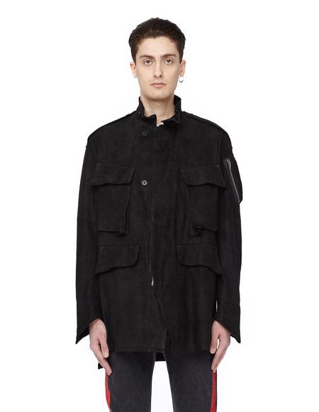 Julius Zipped Suede Jacket - Black