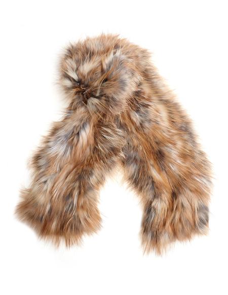 Backlash Knitted Fox Fur Scarf