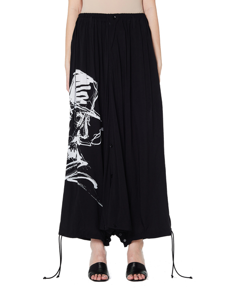 Yohji Yamamoto Printed Baggy Trousers