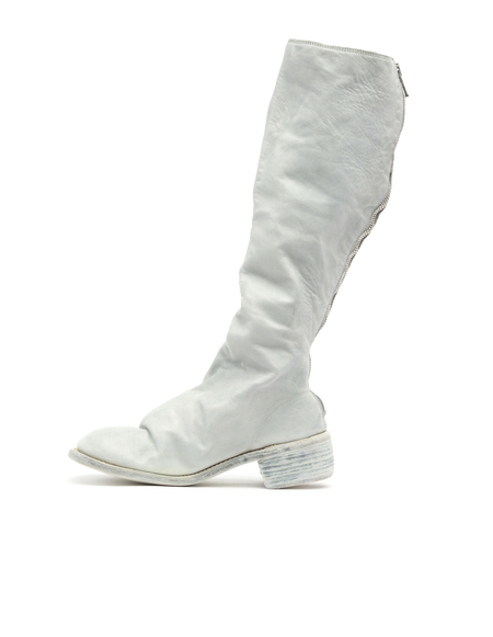 Guidi Knee-high Leather Boots - White