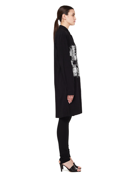 Yohji Yamamoto Printed Elongated Shirt - Black