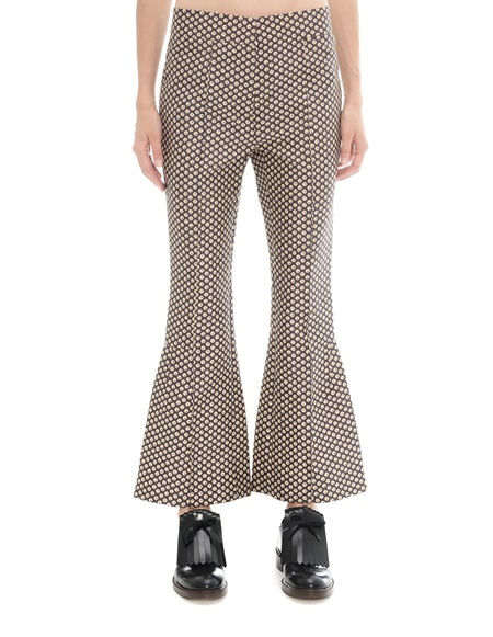 Marni Cotton and silk trousers - brown
