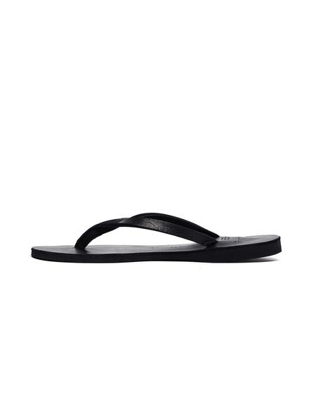 Yohji Yamamoto Leather Flip-Flops - Black