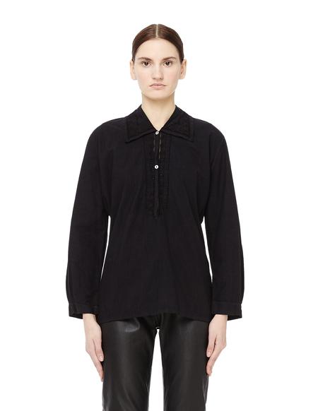 Blackyoto Lace Trimmed Cotton Shirt