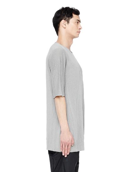 Leon Emanuel Blanck Linen Raw Neck T-Shirt - gray